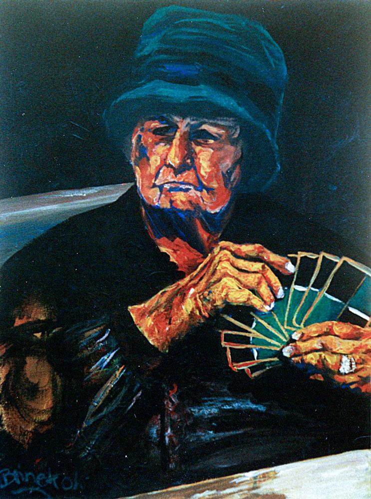 Kartspielerin